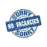 Spiacente nessun bollo di posti vacanti Immagini Stock