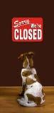 Spiacente siamo chiusi. Fotografie Stock