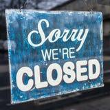 Spiacente siamo chiusi Immagini Stock Libere da Diritti