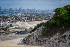 Spiagge del Brasile - Genipabu Marina militare Immagini Stock Libere da Diritti