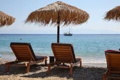 Spiagge dell'isola di Skopelos fotografie stock libere da diritti