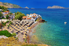 Spiagge della Grecia Immagine Stock Libera da Diritti