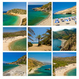 Spiagge di Crete Immagini Stock Libere da Diritti