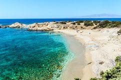 Spiagge di Naxos, Grecia fotografie stock