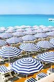 Spiagge di Nizza Fotografia Stock