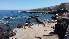 Spiagge di Puerto de la Cruz Immagini Stock Libere da Diritti
