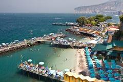 Spiagge di Sorrento Fotografie Stock Libere da Diritti