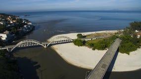 Spiagge e posti paradisiacal, spiagge meravigliose intorno al mondo, Restinga della spiaggia di Marambaia, Rio de Janeiro, Brasil immagini stock libere da diritti