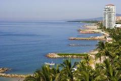 Spiagge ed hotel del Puerto Vallarta Messico immagine stock