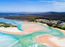 Spiagge idilliache delle durre Australia fotografia stock
