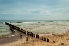 Spiagge in Polonia Fotografie Stock Libere da Diritti