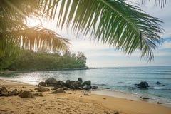 Spiaggia abbandonata Phuket, Tailandia Fotografie Stock Libere da Diritti