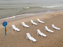 Spiaggia abbandonata sulla banca del Mar Baltico Immagine Stock Libera da Diritti