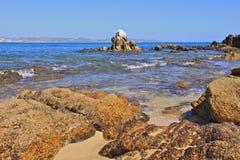 Spiaggia abbandonata sulla grande isola Fotografia Stock Libera da Diritti