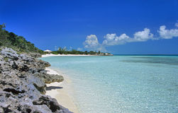 Spiaggia abbandonata - un certo granulo Fotografie Stock Libere da Diritti