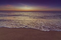 Spiaggia ad alba Immagine Stock