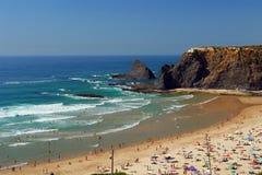 Spiaggia ad estate Immagini Stock Libere da Diritti