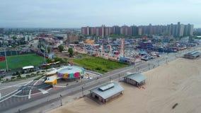 Spiaggia aerea di Coney Island del metraggio stock footage