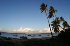 Spiaggia africana di estate Fotografia Stock Libera da Diritti