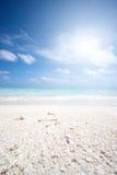 Spiaggia ai maldives Immagine Stock
