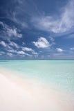 Spiaggia ai maldives 2 Immagini Stock Libere da Diritti