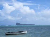 Spiaggia al cappuccio Malheureux, Mauritius fotografia stock libera da diritti