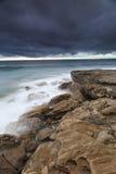 Spiaggia al crepuscolo Immagine Stock Libera da Diritti