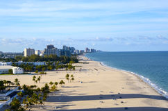 Spiaggia al Fort Lauderdale Florida Fotografia Stock