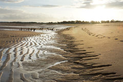 Spiaggia al tramonto Fotografia Stock