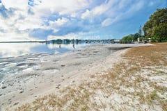 Spiaggia al yamba fotografie stock libere da diritti