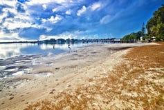 Spiaggia al yamba fotografia stock