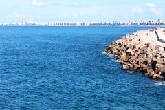 Spiaggia in Alessandria d'Egitto Immagini Stock