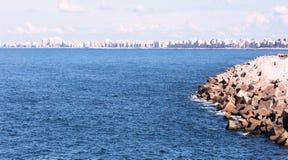 Spiaggia in Alessandria d'Egitto Immagini Stock Libere da Diritti