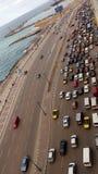 Spiaggia in Alessandria d'Egitto Fotografie Stock Libere da Diritti