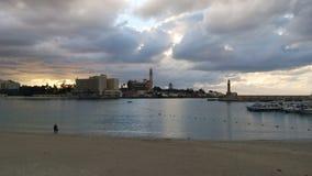 Spiaggia in Alessandria d'Egitto Immagine Stock Libera da Diritti