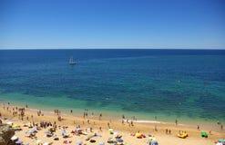 Spiaggia in Algarve Fotografia Stock