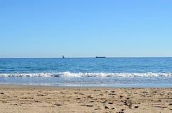 Spiaggia in Alicante Fotografie Stock