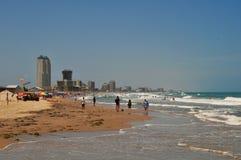 Spiaggia all'isola del sud di cappellano, il Texas Immagine Stock