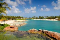 Spiaggia all'isola di paradiso Fotografia Stock