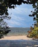 Spiaggia all'isola di Sanibel Fotografia Stock Libera da Diritti