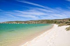 Spiaggia alla laguna di Langebaan - parco nazionale della costa ovest, Sudafrica Immagini Stock