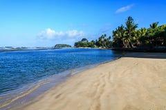 Spiaggia alla mattina, Beruwala, Sri Lanka di Moragalla fotografia stock libera da diritti