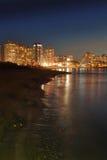 Spiaggia alla notte Fotografia Stock