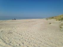 Spiaggia allo sputo di Curonian Fotografia Stock