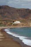 Spiaggia Almeria, Spagna di Los Escullos Fotografia Stock Libera da Diritti