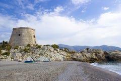 Spiaggia in Almunecar Immagini Stock Libere da Diritti