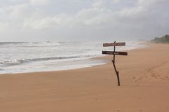 Spiaggia alta tecnologia in Bentota, Sri Lanka Fotografia Stock Libera da Diritti