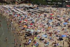 Spiaggia ammucchiata Immagini Stock Libere da Diritti