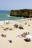 Spiaggia ammucchiata Fotografia Stock Libera da Diritti