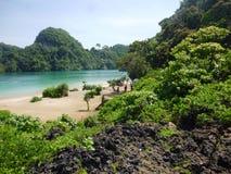 Spiaggia anakan di Segoro Immagini Stock Libere da Diritti